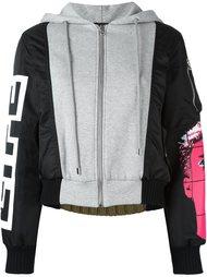 куртка-бомбер с панельным дизайном  Moschino