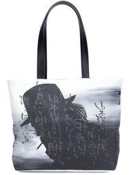 сумка-тоут с принтом силуэта  Yohji Yamamoto