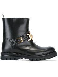 байкерские ботинки  Versace