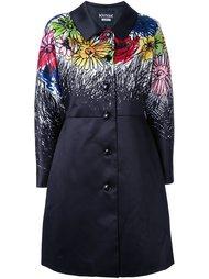 пальто с цветочным принтом   Boutique Moschino