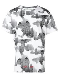 футболка с принтом небоскребов Off-White