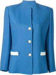пиджак на пуговицах с контрастными карманами Hermès Vintage