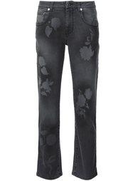 джинсы с узором в виде листьев Christopher Kane