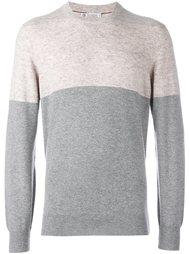 свитер в стиле колор-блок  Brunello Cucinelli