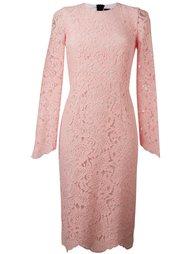 кружевное приталенное платье Marco Bologna