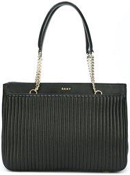 сумка-тоут в рубчик  DKNY