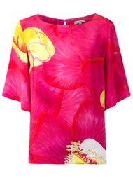 silk floral print blouse Isolda