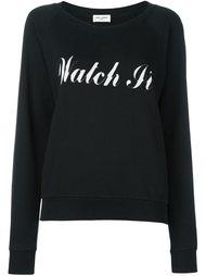 толстовка с принтом 'Watch It'  Saint Laurent