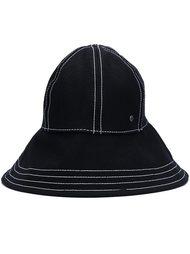 шляпа-ведро с декоративной строчкой Maison Michel