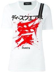 футболка с декоративной молнией Dsquared2