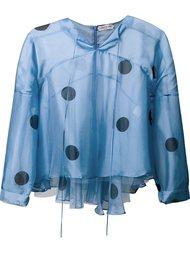полупрозрачная блузка с рисунком в горох Natasha Zinko