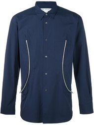 рубашка с декоративными молниями Comme Des Garçons Shirt