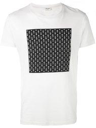 футболка с принтом квадрата  Saint Laurent