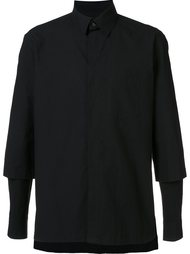 рубашка с многослойными рукавами Yohji Yamamoto