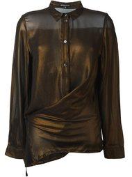 прозрачная блузка с асимметричным подолом Ann Demeulemeester
