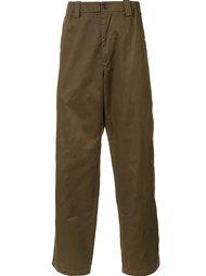 брюки прямого кроя  Yohji Yamamoto