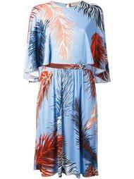 платье с принтом перьев Emilio Pucci