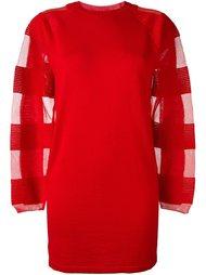 вязаное платье с прозрачными панелями Mm6 Maison Margiela