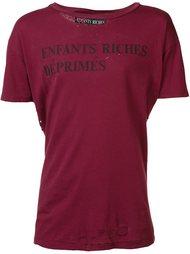 футболка с рваными деталями   Enfants Riches Deprimes