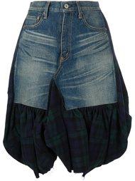 юбка с джинсовой вставкой  Junya Watanabe Comme Des Garçons