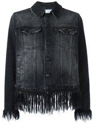 укороченная джинсовая куртка с бахромой MSGM
