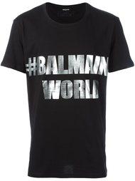 футболка #BalmainWorld  Balmain