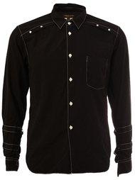 рубашка с контрастной окантовкой  Comme Des Garçons Homme Plus