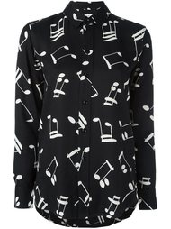 рубашка с узором в виде нот Saint Laurent