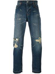 джинсы с потертой отделкой Ami Alexandre Mattiussi