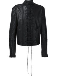 кожаная куртка на шнуровке Haider Ackermann