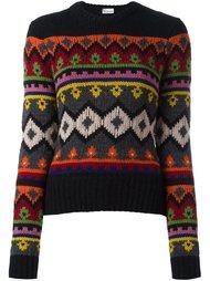 свитер с узором Red Valentino
