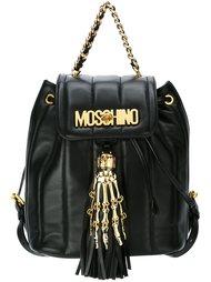 рюкзак с логотипом и рукой скелета Moschino