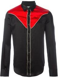 контрастная рубашка  Saint Laurent