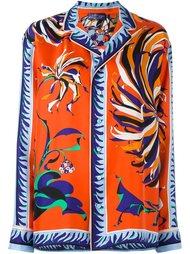 рубашка с цветочным принтом Emilio Pucci