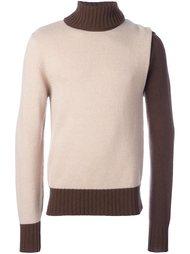 свитер в стиле колор-блок  Walter Van Beirendonck Vintage