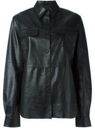 кожаная рубашка  McQ Alexander McQueen