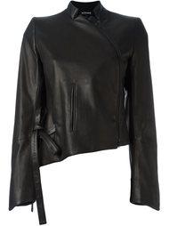 асимметричная кожаная куртка Ann Demeulemeester