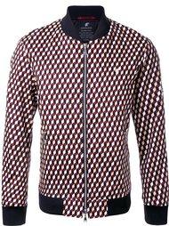 куртка-бомбер с геометрическим принтом Loveless