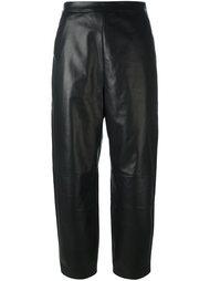 кожаные укороченные брюки Neil Barrett