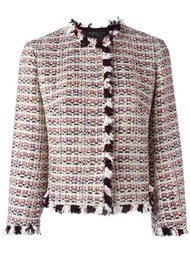 ruffle-trim tweed jacket Giambattista Valli