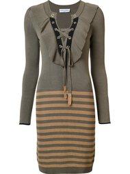 вязаное платье в полоску Sonia Rykiel