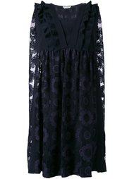 платье с цветочной вышивкой Fendi