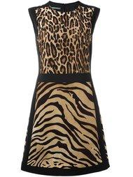 платье с леопардовым принтом   Alberta Ferretti