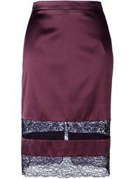 юбка с кружевной вставкой  Givenchy