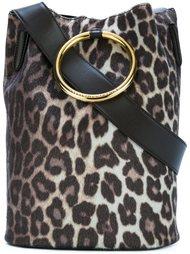сумка-мешок с леопардовым узором Stella McCartney
