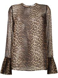 прозрачная блузка с леопардовым принтом P.A.R.O.S.H.