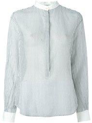 полосатая рубашка с воротником-стойкой Forte Forte