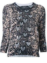 блузка с принтом змеиной кожи  Markus Lupfer