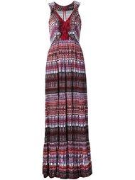 платье с узором в полоску Saloni