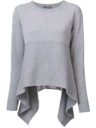 свитер с неравномерным подолом Alexander McQueen